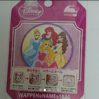 ディズニー(Disney)の ワッペン   ぺらっとネーム  プリンセス  ディズニー(各種パーツ)