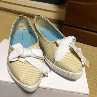 パサージュミニョン(passage mignon)のパサージュミニョン 靴 新品未使用 22.5cm(スニーカー)