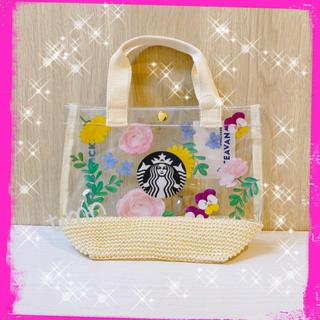 スターバックスコーヒー(Starbucks Coffee)のNEW❗️スターバックス☆ティバーナ☆クリアミニトートバッグ(トートバッグ)