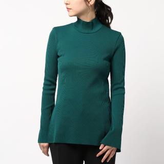 エンフォルド(ENFOLD)のUN3D. アンスリード リブカットタートル グリーン 緑(Tシャツ(長袖/七分))