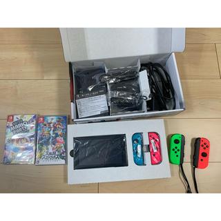 ニンテンドースイッチ(Nintendo Switch)のNintendo Switch 本体完品+ジョイコン2つ+ソフト(家庭用ゲーム機本体)