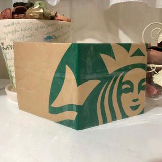 スターバックスコーヒー(Starbucks Coffee)の❤️ スタバショッパー ❤️ 二つ折り財布 ハンドメイド ❤️(財布)