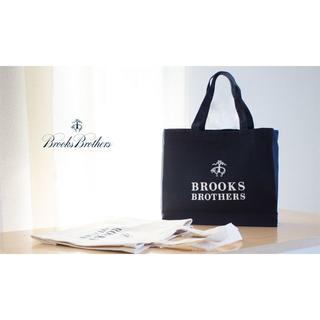 ブルックスブラザース(Brooks Brothers)の新品☆BROOKS BROTHERS ネイビー トートバック コットン100%(トートバッグ)