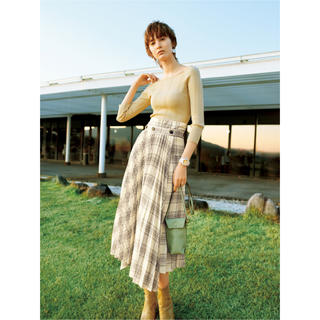 snidel - プリーツレイヤードスカート