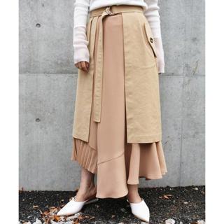 アウラアイラ(AULA AILA)の送料込!⭐︎ AULA AILA トレンチ レイヤード スカート 美品(ロングスカート)