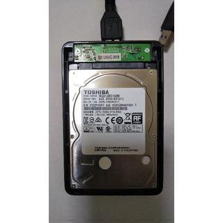 東芝2.5インチ外付けHDD 1TB(PCパーツ)