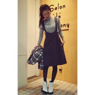 サロンドバルコニー(Salon de Balcony)の新品☆Salon de Balcony ジャンパースカート(ひざ丈ワンピース)
