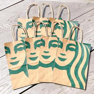 スターバックスコーヒー(Starbucks Coffee)のスターバックス リニューアル サイレンロゴ ショップ袋 ショッパー 7枚 スタバ(ショップ袋)