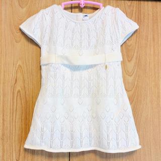 ベビーディオール(baby Dior)の美品 ディオール ワンピース ニット 6m 60 新生児(ワンピース)