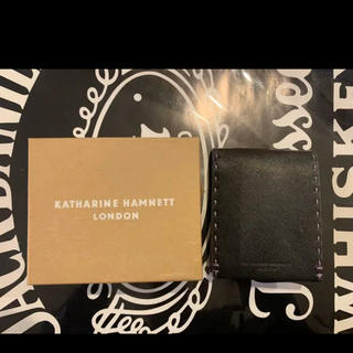 キャサリンハムネット(KATHARINE HAMNETT)のキャサリンハムネット Katharine Hamnett レザー 財布 折畳み(長財布)
