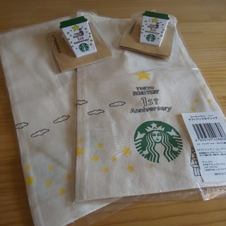 スターバックスコーヒー(Starbucks Coffee)の【スターバックス】限定コットンギフトバッグ&クリップ◆2個セット(その他)