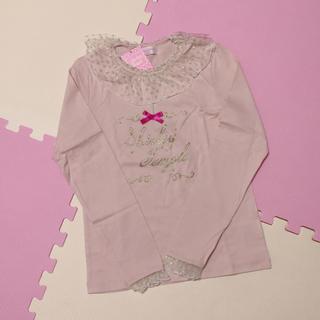 シャーリーテンプル(Shirley Temple)のドットレース襟 ピンク 160 ⑅ シャーリーテンプル(Tシャツ/カットソー)