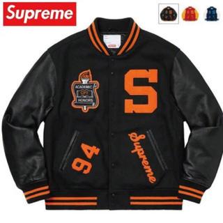 シュプリーム(Supreme)のSupreme Team Varsity Jacket blackシュプリームM(スタジャン)