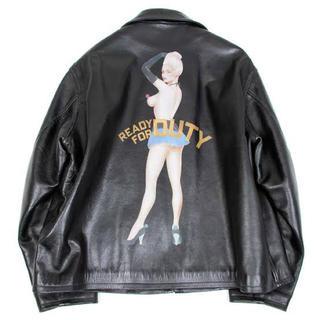 Yohji Yamamoto - yohji yamamoto 91aw leather jacket