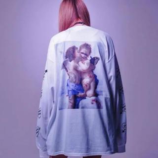 ミルクボーイ(MILKBOY)のTRAVAS TOKYO  天使 名画 ロング Tシャツ ロンT 新品未開封(Tシャツ/カットソー(七分/長袖))