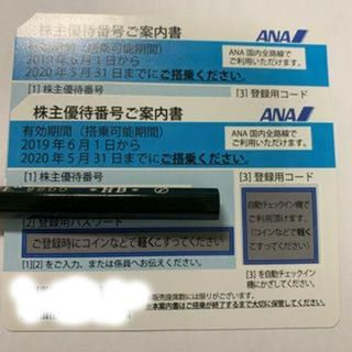 ANA 株主優待券  11月30日迄延長有効 2枚セット(航空券)