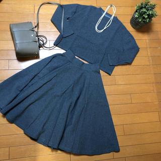 ドゥーズィエムクラス(DEUXIEME CLASSE)の美品ウィムガゼットトレーナーセットアップスカート(セット/コーデ)