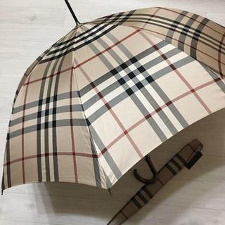 バーバリー(BURBERRY)のバーバリー メンズ 長傘 ベージュ ノバチェック カバー付き(傘)