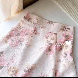 MISCH MASCH - 4/10限定価格‼️新品 ジャガードレース花柄レーススカート 定価9790円