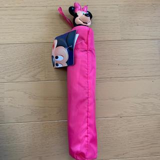 ディズニー(Disney)のディズニー ミニーちゃん折りたたみ傘 ピンク(傘)
