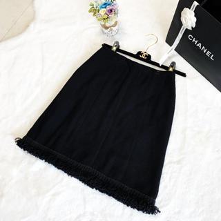 CHANEL - 美品 シャネル ツイード  スカート ココマーク  シルク