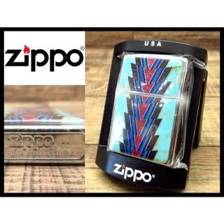 ジッポー(ZIPPO)の希少 新品 ジッポー 2001年製 ズニ族 ターコイズ コーラル 装飾 ライター(その他)