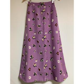 KBF - KBF+ 花柄ロングスカート