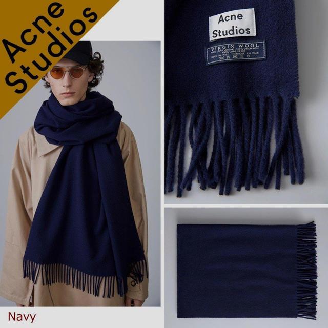 ACNE(アクネ)の[ほぼ新品] Acne Studios マフラー 大判 ストールピン付き レディースのファッション小物(マフラー/ショール)の商品写真