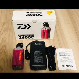 スーパーリチウムBM2600C(充電器付き) 電動リール バッテリー 美品☆(リール)