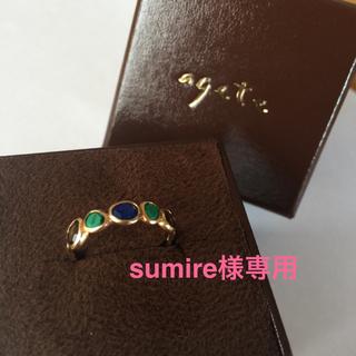 アガット(agete)のageteスキニーストーンk10リング☆(リング(指輪))