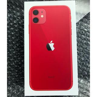 アイフォーン(iPhone)のiPhone 11 (PRODUCT)RED 64 GB SIMフリー(スマートフォン本体)