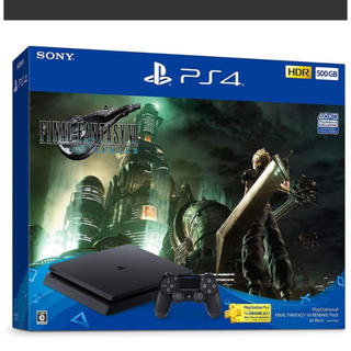 プレイステーション4(PlayStation4)の新品 ファイナルファンタジーVII PS4  FF7 リメイク 本体 500GB(家庭用ゲーム機本体)
