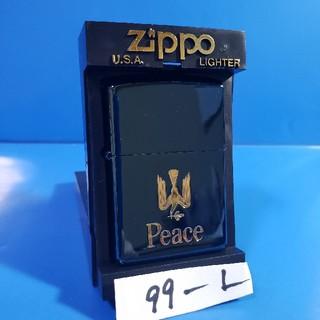 ジッポー(ZIPPO)の極上未使用品❤99L'Zippo❤JT限定❤ピース ブルーチタン♥送料無料❤(タバコグッズ)