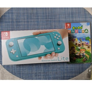 ニンテンドースイッチ(Nintendo Switch)の【新品】switch lite 本体  どうぶつの森 セット【24時間以内発送】(家庭用ゲーム機本体)