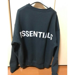 FEAR OF GOD - 最終値下げ essentials fog crewneck 黒 S