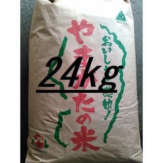 北海道~関西地域限定!令和元年産山形県産(はえぬき)中米 白米24kg!