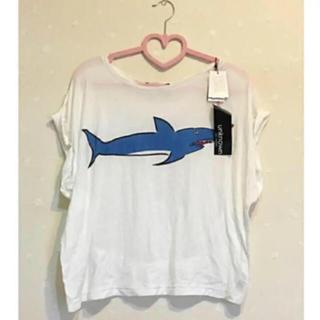 アズールバイマウジー(AZUL by moussy)の未使用 AZUL by moussy プリント tシャツ サメ tシャツ(カットソー(半袖/袖なし))