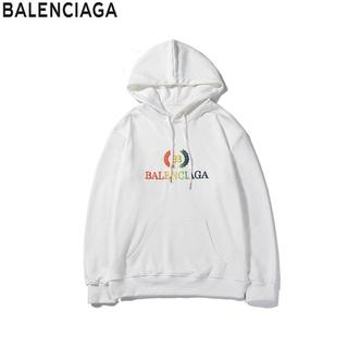 Balenciaga - ✨送料無料2枚千円引き★バレンシアガ★人気パーカー男女兼用ポケット付き【白#03