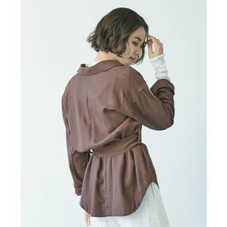 ラグナムーン(LagunaMoon)のラグナムーン リネンブレンドシャツジャケット(テーラードジャケット)