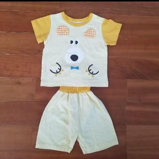 半袖 パジャマ 黄色 犬 80 美品(パジャマ)