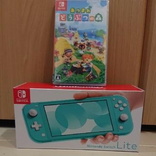 ニンテンドースイッチ(Nintendo Switch)の新品 Nintendo Switch lite どうぶつの森 ソフト セット販売(携帯用ゲーム機本体)