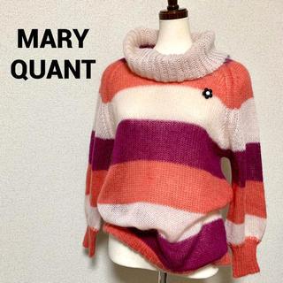 MARY QUANT - 未使用 MARY QUANT ブローチ付 ボーダーニット マリークワント