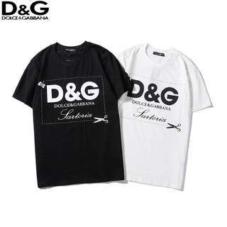 DOLCE&GABBANA - D&G ドルチェ&ガッバーナ 丸襟Tシャツ 半袖Tシャツ