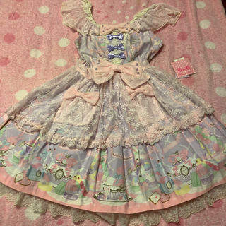 Angelic Pretty - wish me mellコラボ JSK +ボンネット ラベンダー 新品タグ付き