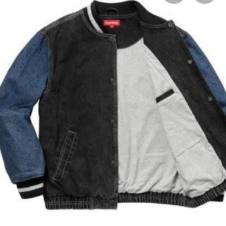 Supreme - Supreme 18ss Denim Varsity Jacket