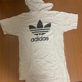 adidas - アディダス 半袖パーカーTシャツ 美品!