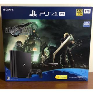 プレイステーション4(PlayStation4)の【新品未使用】PS4 Pro 1TB FF7 リメイク PS4Pro本体 同梱版(家庭用ゲーム機本体)
