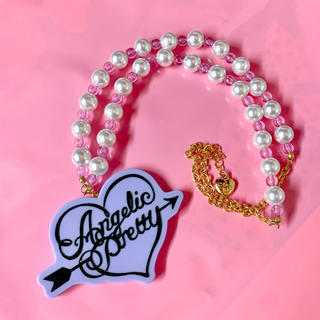 Angelic Pretty - Dolly dot ネックレス ラベンダー