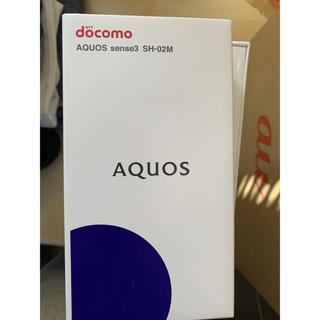 アクオス(AQUOS)のドコモ AQUOS sense3 SH-02Mゴールド(スマートフォン本体)