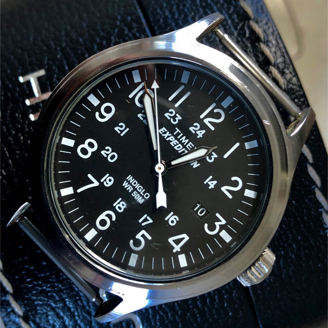 TIMEX(タイメックス)のTIMEXタイメックスミリタリーNATO替えベルト新品40mm美品完動品 メンズの時計(腕時計(アナログ))の商品写真